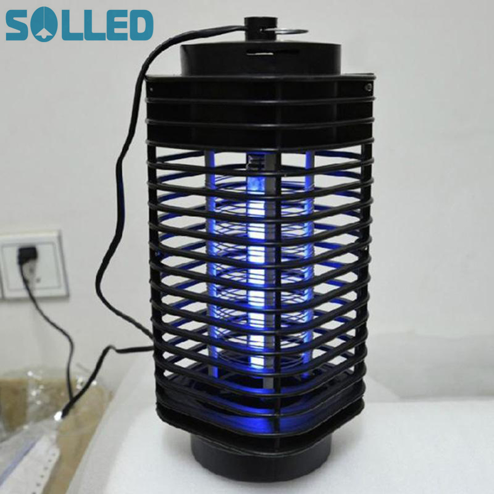 SOLLED Electronics Mosquito Killer Trap Moth Fly Wasp Led Night Lamp Bug Insect Light Black Killing Pest Zapper EU US Plug night lighthouse shape uv mosquito control lamp pest fly bug moth killer light zapper pest control outdoor light