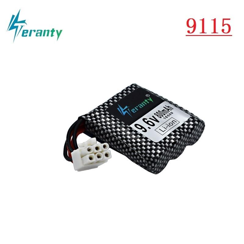 Original 9.6v Li-ion Battery For RC Car 9115 9116 9912 S912 RC Toys Parts 9.6v 800mAh Battery 16500 EL-6P / 6P-SM Plug