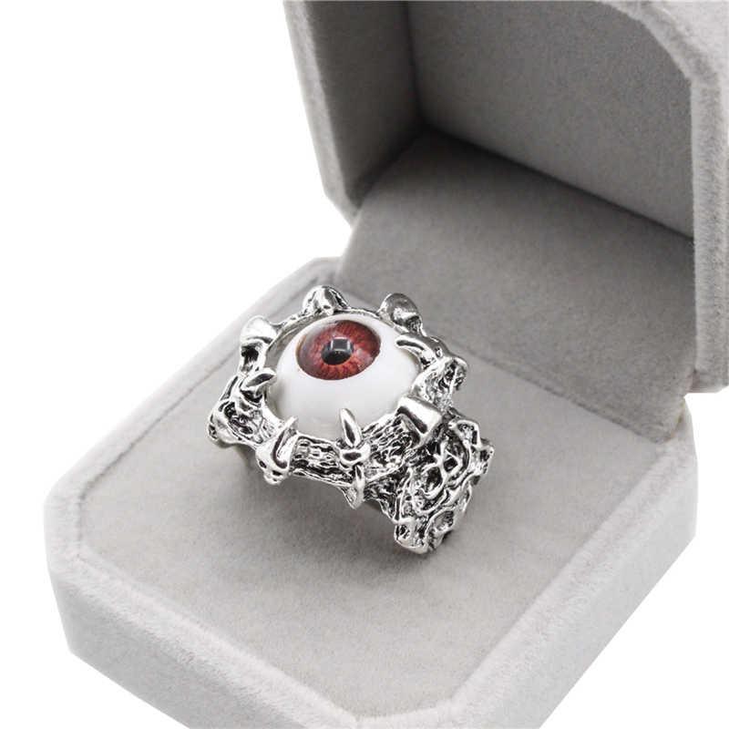 JETTINGBUY Unisex Women's Punk แหวน Retro Dragon Claw Evil Eye กะโหลกศีรษะ Biker Gothic แหวนใหม่มาถึง