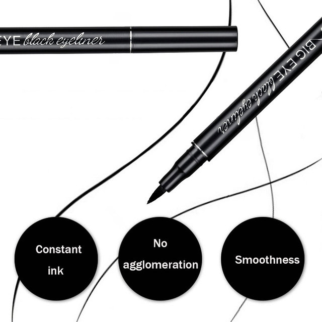 Professional Black Liquid Eyeliner Waterproof Long-lasting Make Up Women Comestic Eye Liner Pencil Makeup Crayon Eyes Marker Pen 4