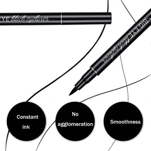 Professional Black Liquid Eyeliner Waterproof Long-lasting Make Up Women Comestic Eye Liner Pencil Makeup Crayon Eyes Marker Pen 4