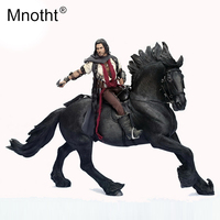 Mnotht 1/6 Scale Sharma Model King of the horse Collection Toys Resin War Horse With Harness Sculpture For 12in Action Figure