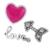 100% 925 Prata Esterlina Encantos do Amor Sentimentos Petites Prata Beads DIY Jewelry Making Frete Grátis
