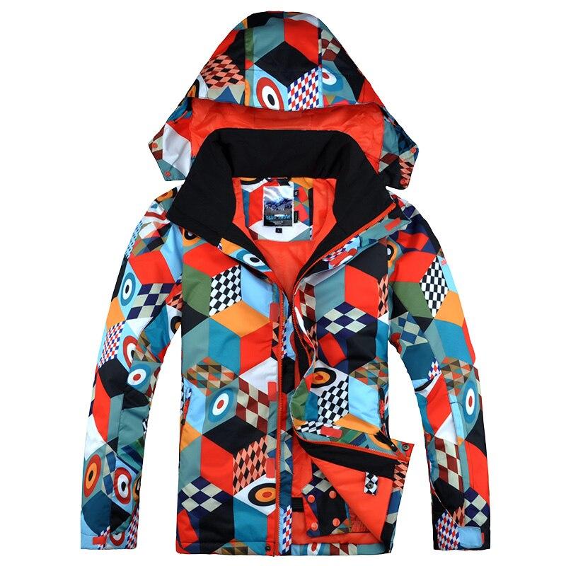 Prix pour Gsou snow super épais chaud ski veste masculine extérieure coupe-vent imperméable respirant veste de ski double bord simple conseil ski costume