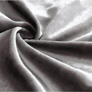 honing fluwelen luxe polyester stof gordijnen shiny gezicht black out jaloezien custom size voor woonkamer silver grey kleur