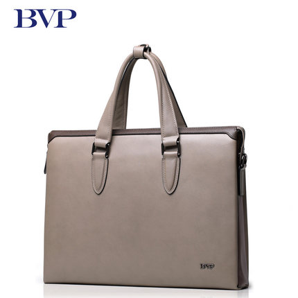 BVP - Famous Designer Brand Bags Men Leather Handbags Business Messenger Type Briefcase Men with Zipper Case for Laptop J15 цена