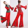 Показать Платье Барабан Yangko Танцевальные Костюмы Традиционный Китайский Народный Танец Костюм Старый Танец Барабанщиков Китайский Народный Танец Костюмы