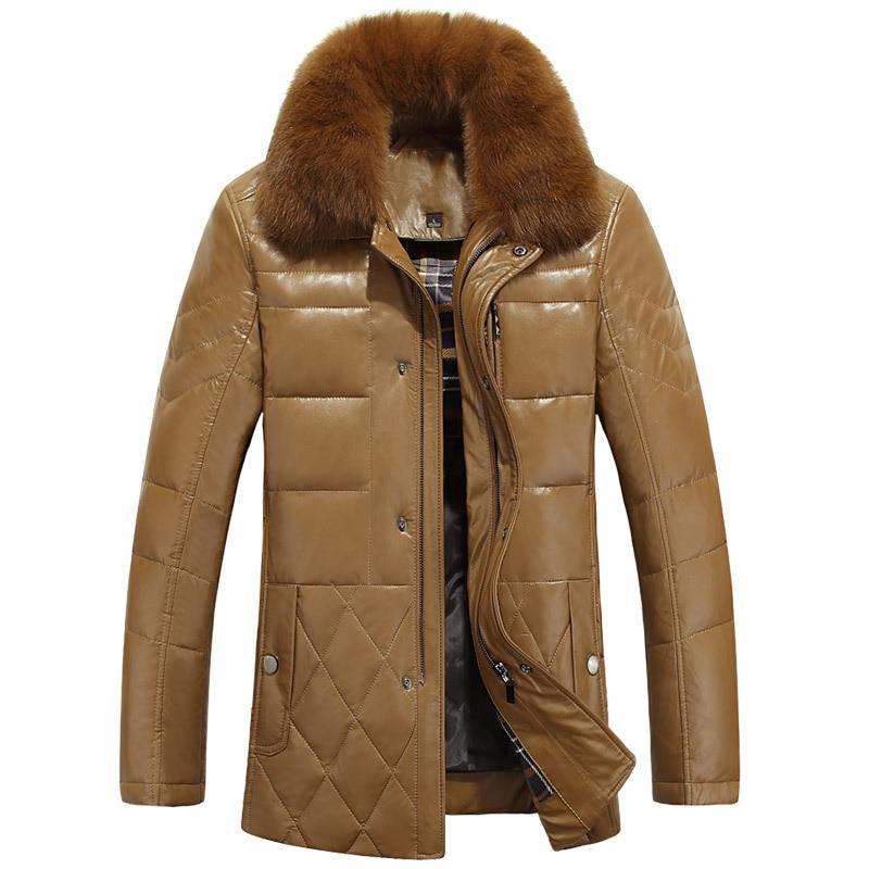 2017 new arrival fashion Down jacket men's fur collar ...