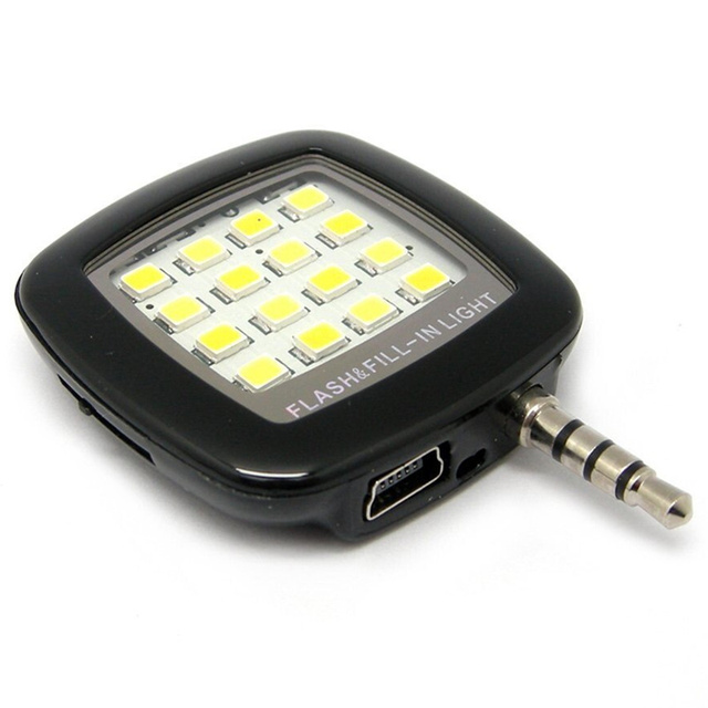 1 Pcs Universal Lens LED Selfie luz celular 3.5 mm luz fotografia holofotes Selfie suplementar iluminação