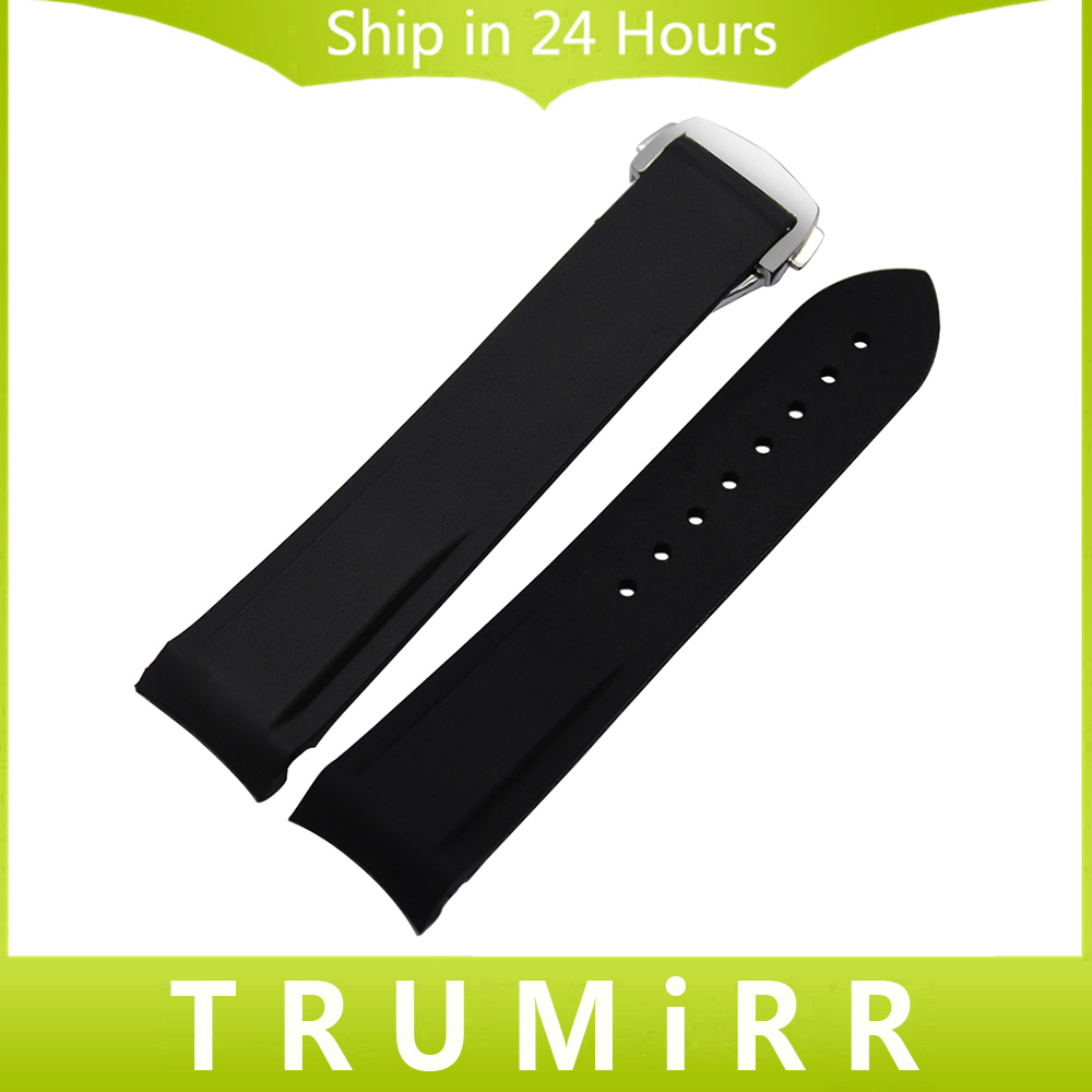 Silicone Rubber Watchband 20mm 22mm +Tool for Speedmaster Globemaster Watch Band Steel Buckle Bracelet Wrist Strap Orange Black faux pearl translucent lace chokers necklace