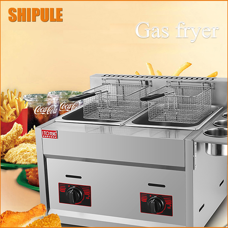 12L Commercial Countertop Gas Deep Fryer Potato Chips Fryer Gas Fryer Machine shipule fast food restaurant 30l commercial electric chicken deep fryer commercial potato chips deep fryer frying machine