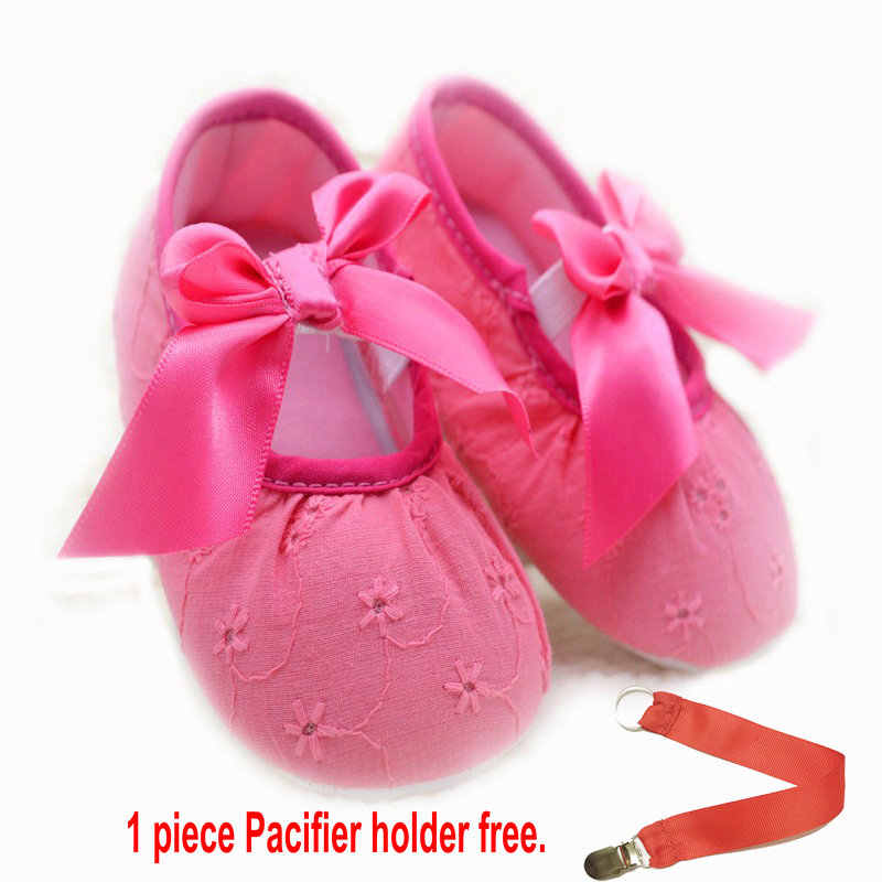 ed8494568d8 free gift pacifier holder Baby Girls 0-18 Months Toddlers PU Leather Soft  Sole Shoes