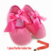 free gift pacifier holder Baby Girls 0-18 Months Toddlers PU Leather Soft Sole Shoes Baby Girl Moccasins First Walkers(Chile)