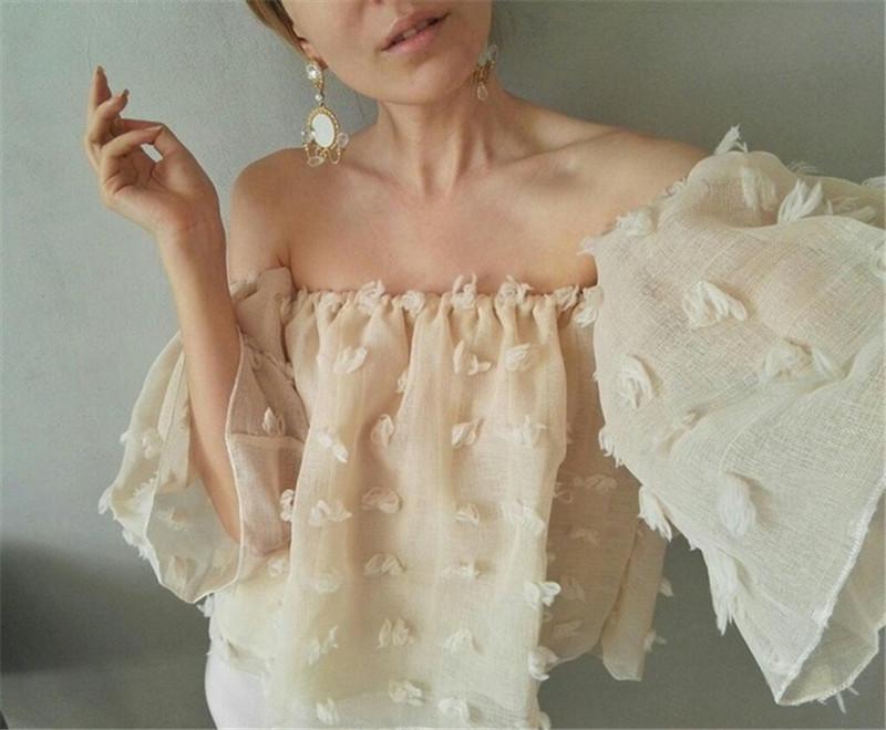 HTB1f1cYRXXXXXa3XXXXq6xXFXXXr - Sexy Off Shoulder Women Puff Sleeve 3D Floral