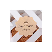 New Trend 240 Lovely Cute Handmade Label Seal Stickers Baked Envelope Decorative Sticker (Style-3(4 x 4 cm))