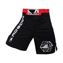 Фитнес ММА бокс шорты дышащий хлопок свободные черные брюки и синий борьба муай тай бокс кикбоксинг шорты тайский шорты