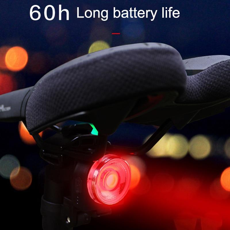USB LED Bicycle Tail Light Smart Brake Induction Mountain Road Bike Rear Light Lamp WHShopping
