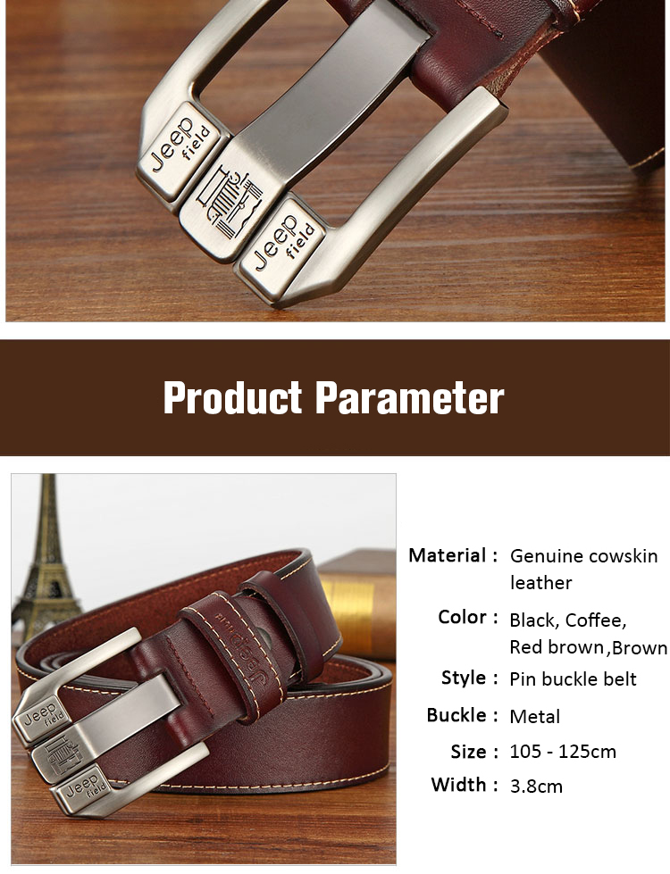 (7)Designer men's belts for men belt genuine leather High quality famous brand Pin Buckle Strap Luxury Male Belts Man Belt Jeans