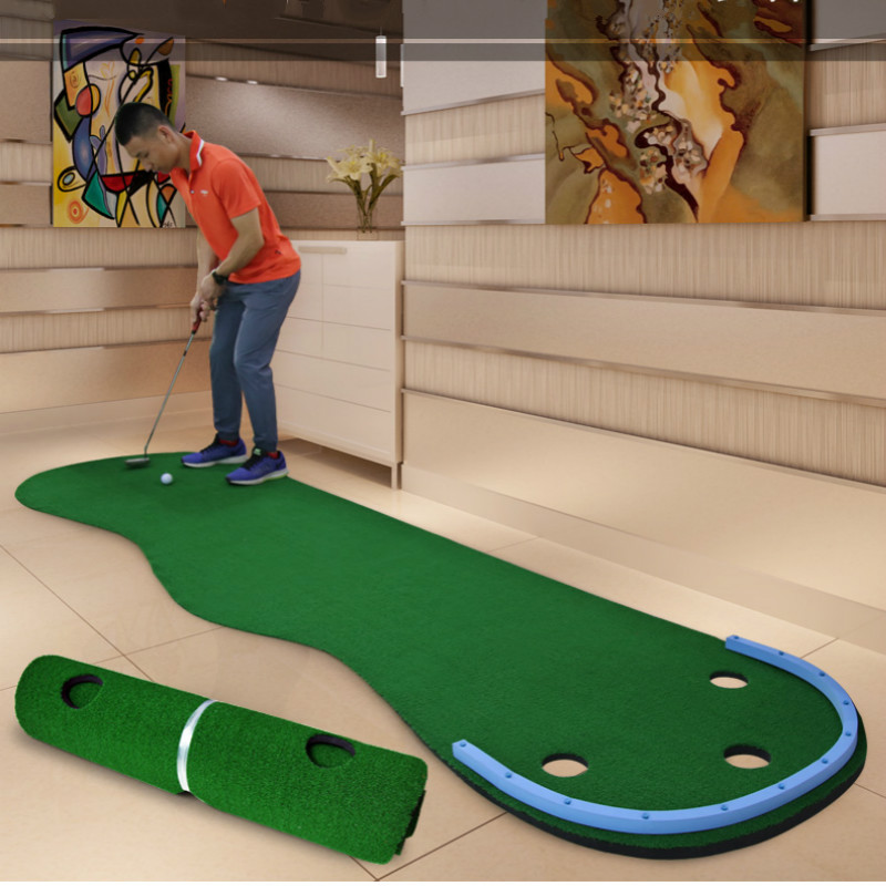 Golf Putting Mat Indoor Golf Playing Carpet 9.8ft Golf Mat