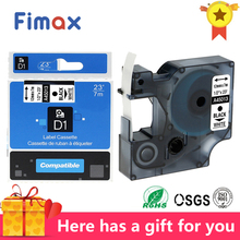 Fimax 1Pcs Dymo 45013 tape 40913 for Standard Dymo D1 12mm Printer Ribbons Tape 45021 45016 45010 45018 Label Maker LM160 280 fimax 10 pcs for dymo d1 label printer ribbon dymo 45013 12mm dymo d1 label tape black on white s0720530 for dymo d1 label maker