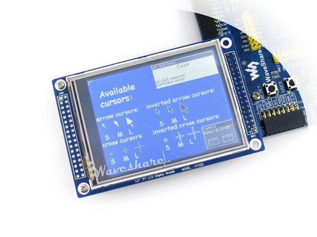 Waveshare 3.2 дюймовый 320x240 Сенсорный ЖК (C) Многоцветный Графический Сенсорный Экран TFT Дисплей с Подставкой-один Контроллер ILI9325 XPT2046
