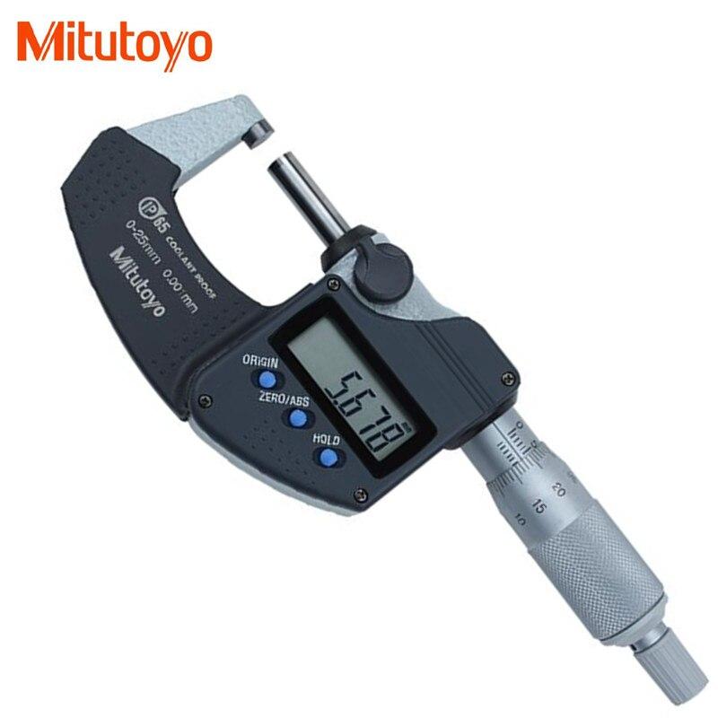 Originale Mitutoyo Digitale Fuori Micrometro 0-25mm/0.001 293-240-30 IP65 a prova di Acqua elettronico Calibro di Misura Strumenti