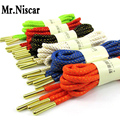 LEO 2 Pair Round Metal Tip Shoelace Tips Rope Shoe Laces Athletic Sport Sneaker Shoe Lace Casual Shoelaces Blue Shoestring