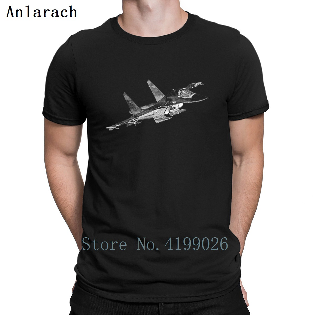 Sukhoi Su 34 Airplane T Shirt Cotton Simple Breathable Stylish Spring Custom Tshirt Customize Letter Cute Men Tops Awesome