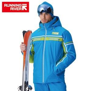 Image 4 - Chaqueta de esquí de alta calidad para hombre, chaqueta deportiva con capucha cálida de invierno para hombre, chaqueta profesional para exteriores # A7006