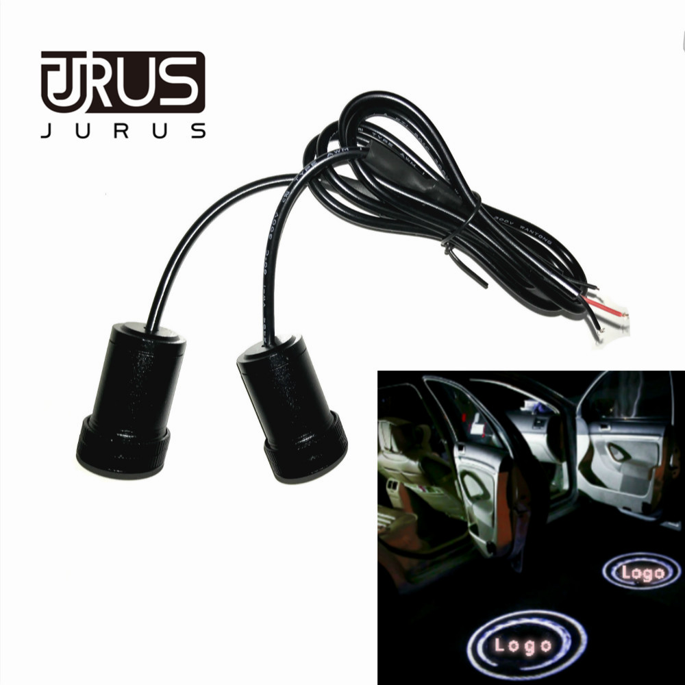 JURUS 2018 Universal 12v led car door welcome light logo Courtesy laser 3D projector Ghost Shadow For CHRYSLER car-styling for toyota led car door courtesy laser projector led logo ghost shadow light for toyota prado camry carolla reiz sienna prius