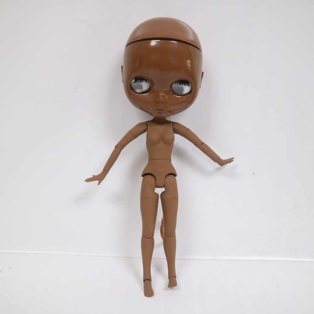 Бесплатная доставка шарнирная кукла Blyth, супер черная кукла