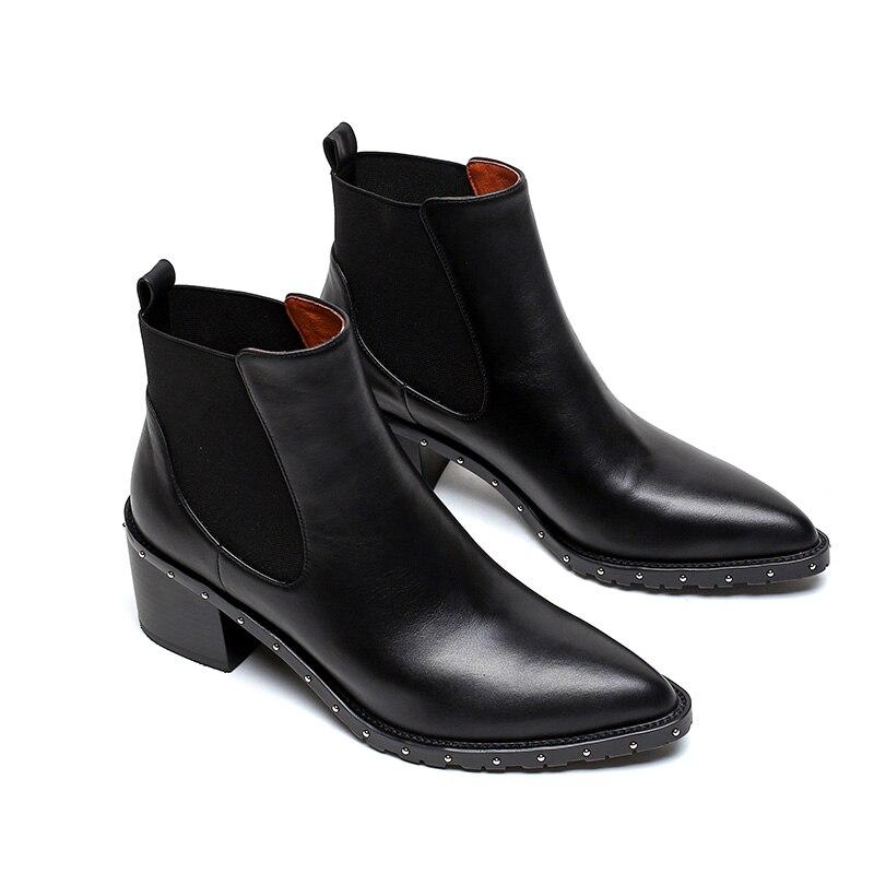 Пикантные красные кожаные женские сапоги до бедра с заостренным носком; Сапоги выше колена на шпильке; модная женская обувь; зимние сапоги; ... - 3