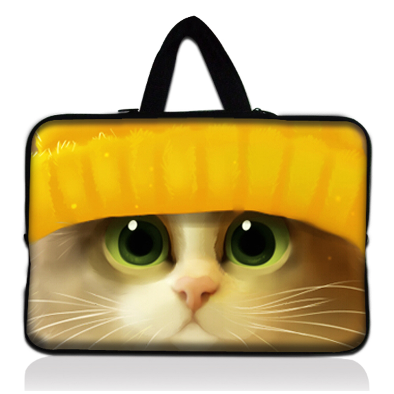 Cute Yellow Cat 15 Laptop sleeve Bag Neoprene Notebook Case Protector Cover For 15.4 Macbook Pro For 15.6 HP Pavilion Dv6 G6