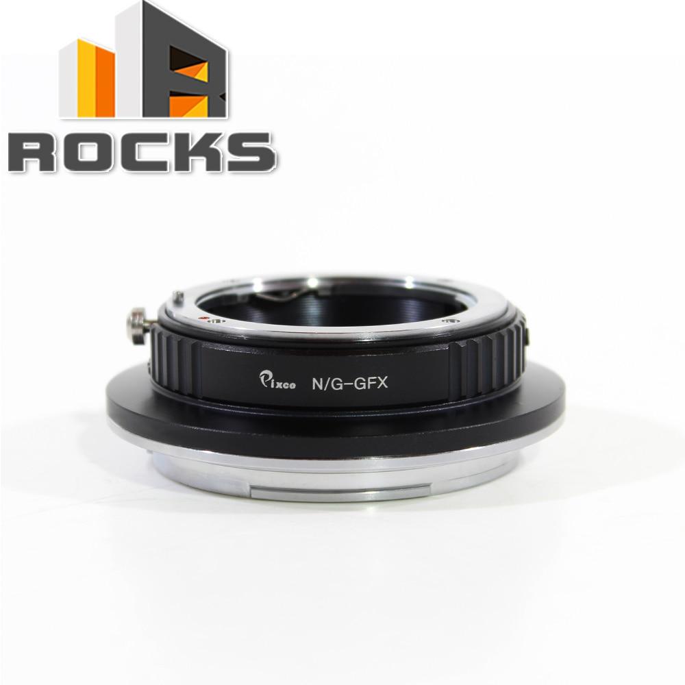 Pixco N/G-GFX Lens Adapter Suit for Nikon G Mount Lens to Fujifilm G-Mount GFX Mirrorless Digital Camera such as GFX 50S все цены