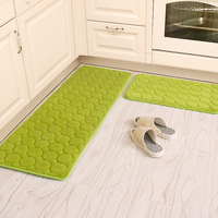 50X80+60X160CM/Set Coral Velvet Kitchen Mat Anti Slip Bathroom Carpet Absorb Water Kitchen Rug Home Entrance Doormat/ Foam Mat