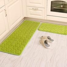 50×80 + 60×160 cm/set coral terciopelo cocina estera antideslizante baño carpet absorber cocina de agua del hogar alfombra felpudo de entrada/colchoneta de espuma