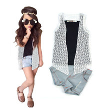 2016 New arrival Girls clothing set Lnice in European style fashion summer T shirt skirt harem