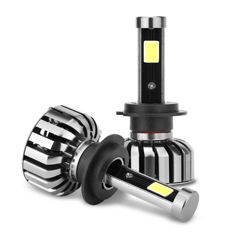 H7 COB LED Car Headlight Bulb Auto Headlamp 80W 8000LM Pure White 6000K All In One Car LED Headlights Fog Light Super Bright