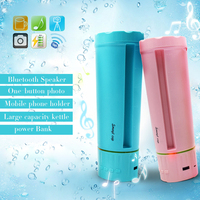 Smart Bluetooth Speaker One button Photo Mobile Power Holder Water Cup TF Card Subwoofer Bluetooth Column Portable Usb Speakers