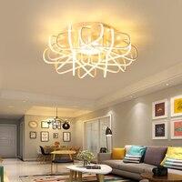 Гнездо новый современный светодио дный Потолочная люстра для гостиной спальня Home Decor люстра светильники luminarias para sala