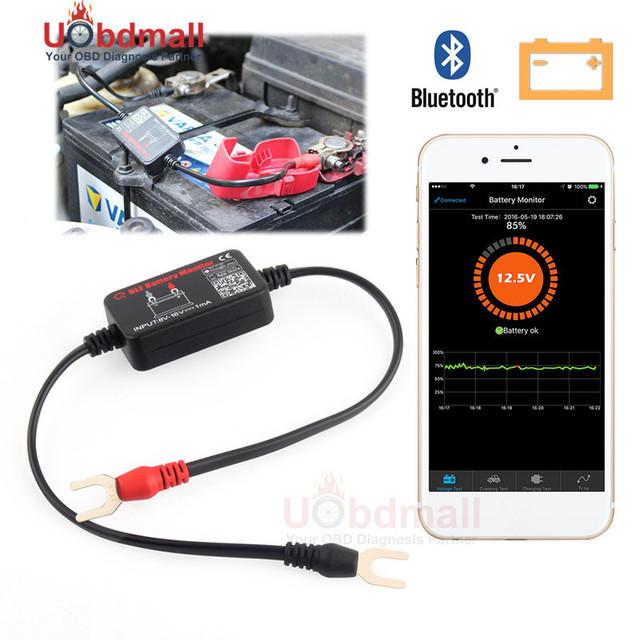 Em Tempo real Do Carro BM2 Bluetooth 4.0 Monitor de Colocação Em Marcha de Carregamento Da Bateria Testador de Bateria Analisador de Bateria de Testes Para Android IOS Telefone