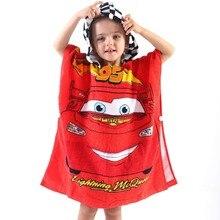 Disney 100% Cotton Mc Queen Baby Girls Boys Hooded Towel Cloak Absorbent Bathrobe Toddler Bath Beach gift