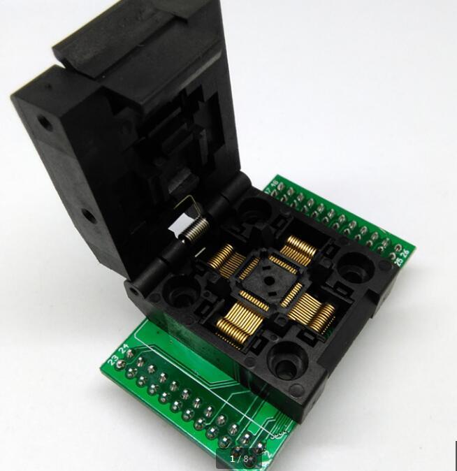 0.5mm TQFP48/QFP48/LQFP48 To DIP48 Burn Adapter Socket Connector Burning Test Programmer freeshipping htqfp qfn48 to 0 5 mm dip48 qfn44 qfp48 qfp44 pqfp lqfp adapter plate