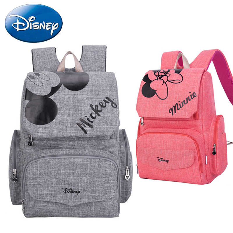 47d90a8622b Disney New 2019 Mickey Minnie Mouse Baby Mummy Diaper Bags Maternal  Stroller Bag Nappy Backpack Maternity
