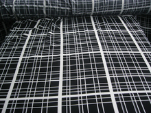 Customized 145cm width stripe lattic plaid font b tartan b font Chiffon gauze satin silk cotton