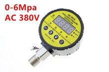 0-6Mpa AC 380V Air Compressor Pressure Switch Digital Pressure Gauge M20 x 1.5