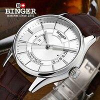 Switzerland Watches Men Luxury Brand Wristwatches BINGER Luminous Mechanical Wristwatches Leather Strap Waterproof B5007 2