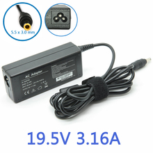 AC Power Supply Adapter Charger for Samsung NT-RV511-A13L/P6100 RV511 Notebook 19V 3.16A 60W Free Shipping