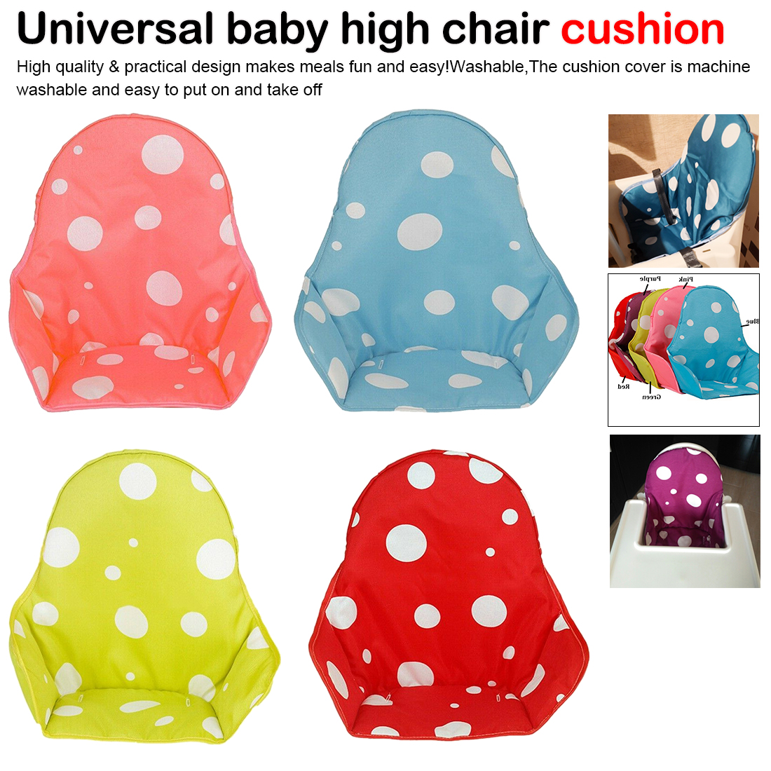 Baby Kids Children High Chair Cushion Cover Booster Mats Pads Feeding Chair Cushion Stroller Seat Cushion Cheaper