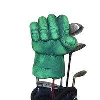 Golf fairway wood için hayvan başörtüsü veya hibrid golf kulübü head, Yeşil El Boks Kulübü Kapak